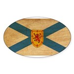 Nova Scotia Flag Sticker (Oval)