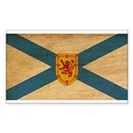 Nova Scotia Flag Sticker (Rectangle)