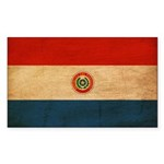 Paraguay Flag Sticker (Rectangle 50 pk)