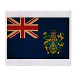 Pitcairn Islands Flag Throw Blanket