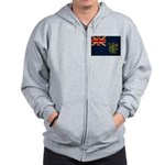 Pitcairn Islands Flag Zip Hoodie