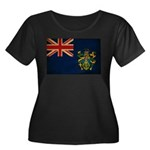 Pitcairn Islands Flag Women's Plus Size Scoop Neck