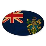 Pitcairn Islands Flag Sticker (Oval)