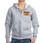 Prince Edward Islands Flag Women's Zip Hoodie