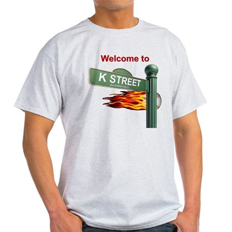 Welcome to K Street Ash Grey Mens T-Shirt