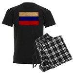 Russia Flag Men's Dark Pajamas