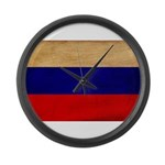 Russia Flag Large Wall Clock