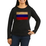 Russia Flag Women's Long Sleeve Dark T-Shirt