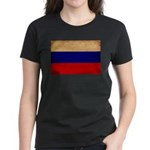Russia Flag Women's Dark T-Shirt