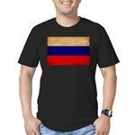 Russia Flag Men's Fitted T-Shirt (dark)