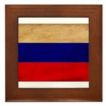 Russia Flag Framed Tile