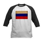 Russia Flag Kids Baseball Jersey