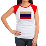 Russia Flag Women's Cap Sleeve T-Shirt