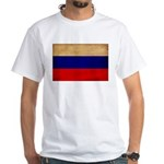 Russia Flag White T-Shirt
