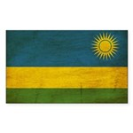 Rwanda Flag Sticker (Rectangle 50 pk)