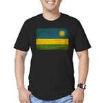 Rwanda Flag Men's Fitted T-Shirt (dark)