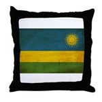 Rwanda Flag Throw Pillow