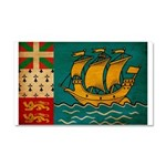 Saint Pierre and Miquelon Fla Car Magnet 20 x 12