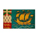 Saint Pierre and Miquelon Fla 22x14 Wall Peel