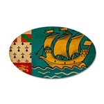 Saint Pierre and Miquelon Fla 22x14 Oval Wall Peel