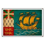 Saint Pierre and Miquelon Fla Banner