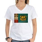 Saint Pierre and Miquelon Fla Women's V-Neck T-Shi