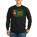 Saint Pierre and Miquelon Fla Long Sleeve Dark T-S