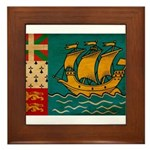 Saint Pierre and Miquelon Fla Framed Tile