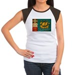 Saint Pierre and Miquelon Fla Women's Cap Sleeve T