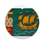 Saint Pierre and Miquelon Fla Ornament (Round)