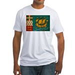 Saint Pierre and Miquelon Fla Fitted T-Shirt