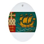 Saint Pierre and Miquelon Fla Ornament (Oval)