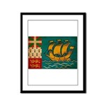 Saint Pierre and Miquelon Fla Framed Panel Print