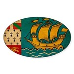 Saint Pierre and Miquelon Fla Sticker (Oval)
