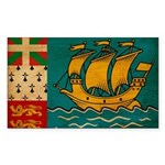 Saint Pierre and Miquelon Fla Sticker (Rectangle)