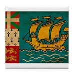 Saint Pierre and Miquelon Fla Tile Coaster