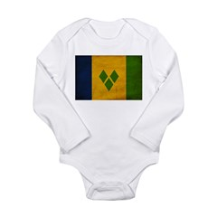 Saint Vincent Flag Long Sleeve Infant Bodysuit