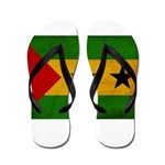 Sao Tome and Principe Flag Flip Flops