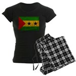 Sao Tome and Principe Flag Women's Dark Pajamas