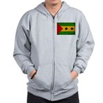 Sao Tome and Principe Flag Zip Hoodie