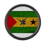 Sao Tome and Principe Flag Large Wall Clock