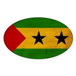 Sao Tome and Principe Flag Sticker (Oval 10 pk)