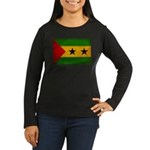 Sao Tome and Principe Flag Women's Long Sleeve Dar