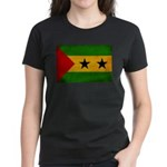 Sao Tome and Principe Flag Women's Dark T-Shirt