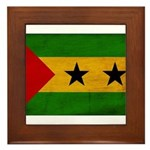 Sao Tome and Principe Flag Framed Tile