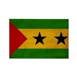 Sao Tome and Principe Flag Rectangle Magnet (10 pa