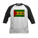 Sao Tome and Principe Flag Kids Baseball Jersey
