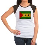 Sao Tome and Principe Flag Women's Cap Sleeve T-Sh