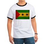 Sao Tome and Principe Flag Ringer T