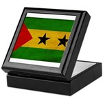 Sao Tome and Principe Flag Keepsake Box